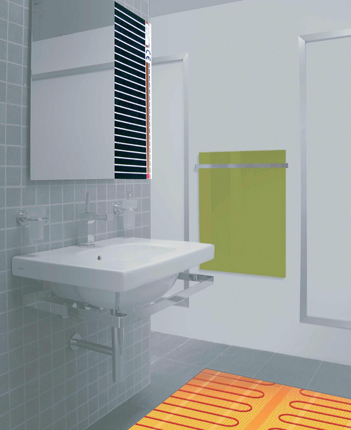 radiante vidrio Canarias Las Palmas Tenerife Lanzarote baño infrarred infrarrojo paneles panel heating electricity Redwell Welltherm Ceilhit Imowell