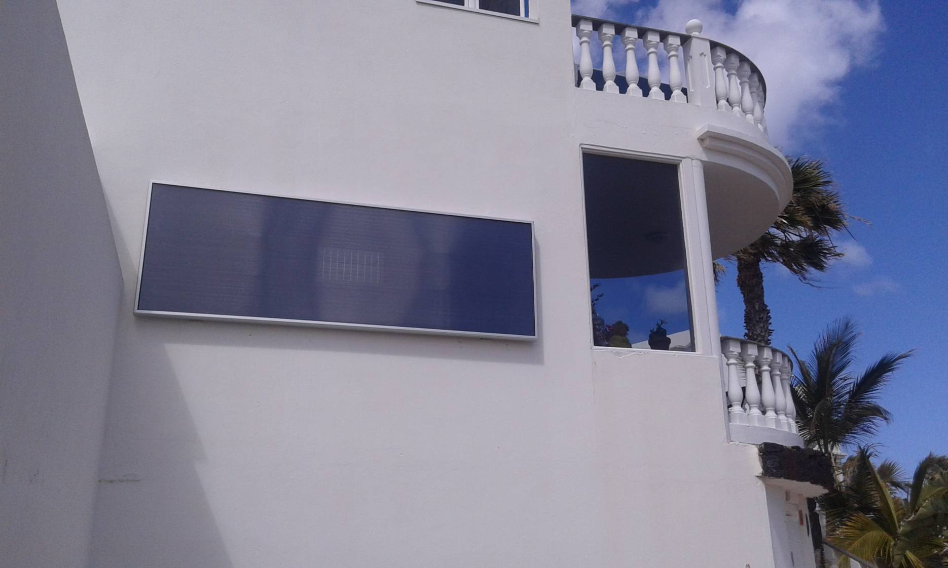 deshumidificacion Canarias en pared SolarVenti Entfeuchtung Dehumidification
